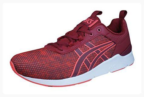Asics Gel Lyte Runner Womens Running Sneakers Shoes Red