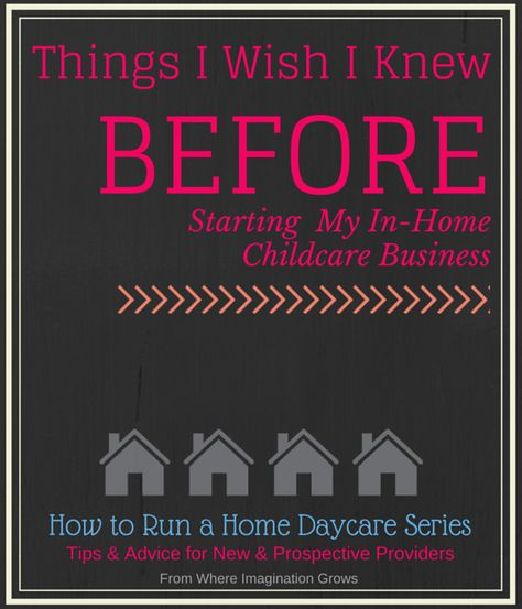 Things I wish I knew before starting a daycare in my home! Common mistakes to avoid and tips for running a daycare successfully.