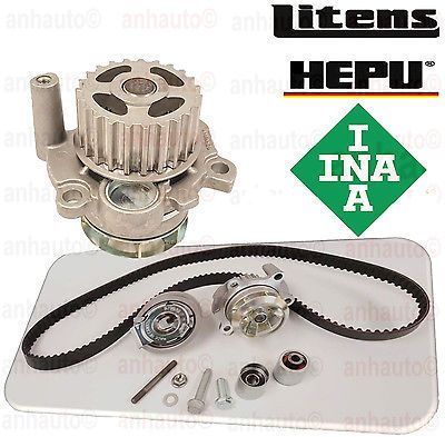 VW Audi A4 Jetta GTI MK5 Passat Eos Timing Belt Kit with Metal Water Pump OEM