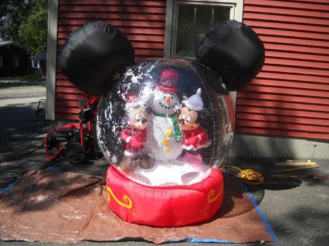 Disney Airblown Inflatable Mickey Minnie Globe with Snow | eBay