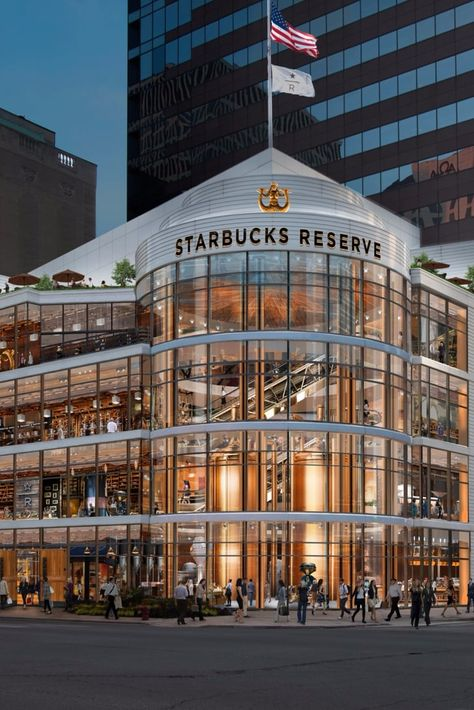 November the Starbucks Reserve Roastery Chicago is set to open! One of the largest Starbucks in the world being square foot space it occupies the space which was Crate & Barrel, at the corner of Michigan Avenue and Erie Street.
