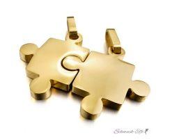 Partner Ketten Puzzle  Gold  316 L Edelstahl inkl. Ketten...