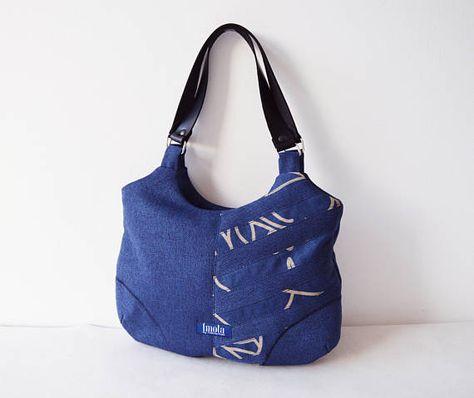 shoulderbag NEW one of a kind indigo blue...