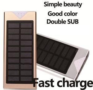 Outdoor Solar Power Bank Waterproof 10000mah 2 Usb Ports External Charger Ultra Thin Powerbank For Xiaomi Iphone X Battery Pack With Images Solar Power Bank Powerbank Solar Power