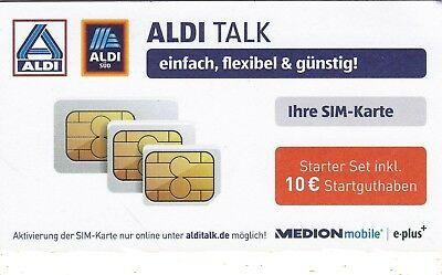 Aldi Karte.Ebay Sponsored Aldi Talk Sim Karte Starter Set Inkl 10