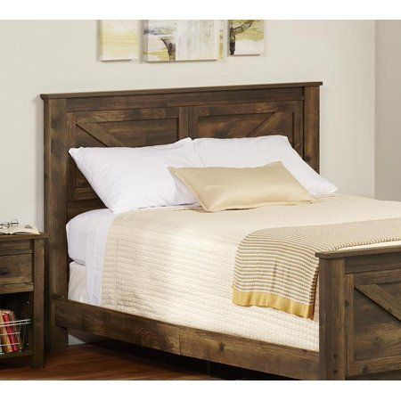 Ameriwood Home Farmington Queen Headboard In Rustic Walmart Com