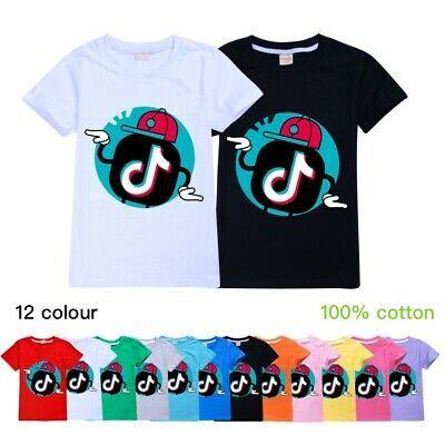 Kids Tik Tok Prints Boys Girls Long Sleeve T-Shirt Pullover Summer Tops Blouse