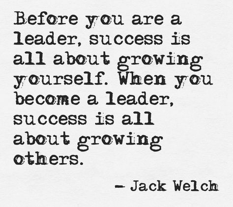 #Leadership at its finest - By succeeding in growing yourself you can help others to grow. #Entrepreneurship #Företagande
