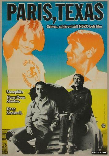 Paris Texas Hungarian 1 2 Sheet Movie Poster Style Movie
