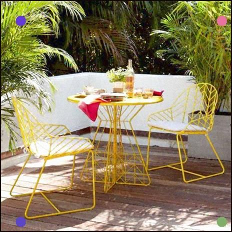West Elm Yellow Patio Furniture Modern Outdoor Furniture Outdoor Dining Mid Century Outdoor Furniture