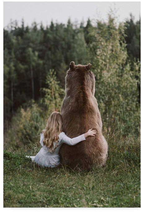 Olga Trademark Innovations Barantseva 'Bear Friend' Canvas Art - 16 x 2 x 24