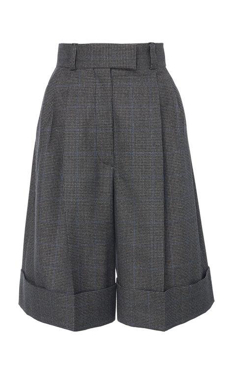 Cuffed Knee-Length Shorts by Miu Miu   Moda Operandi