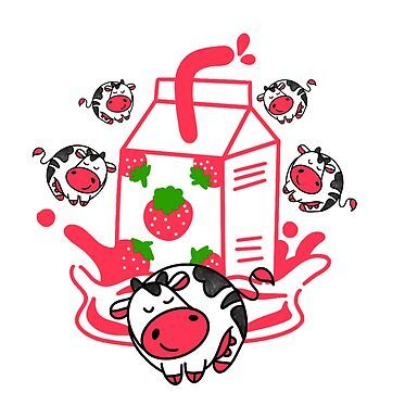 Promote Redbubble Pink Cow Pet Moo Milkshake Strawberry Milk Strawberry Milkshake Cute Cow Strawberry Cow Pillowpet Stuffed Animal Strawberry Pet Di 2020