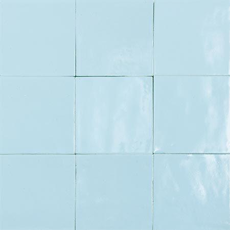 1088 Bleu Ciel Carrelage Marocain Zellige Deco Carrelage