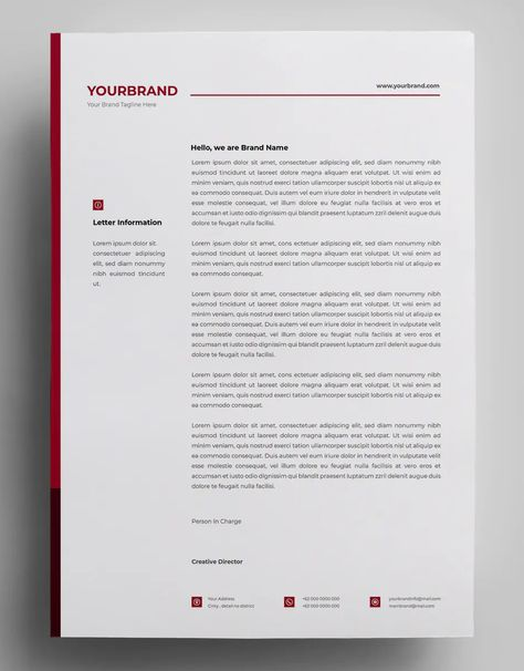 Corporate Letterhead Design Vector EPS, AI