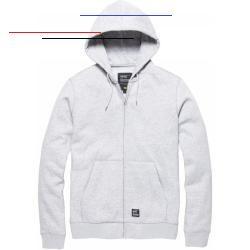 Cottonstyle 80 20 Baumwolle Polyester380 Gramminnen Geburstetkanguru Taschemetall Vorderen Verschluss Reissverschluss In 2020 Grey Sweatshirt Hoodies Grey Hoodie