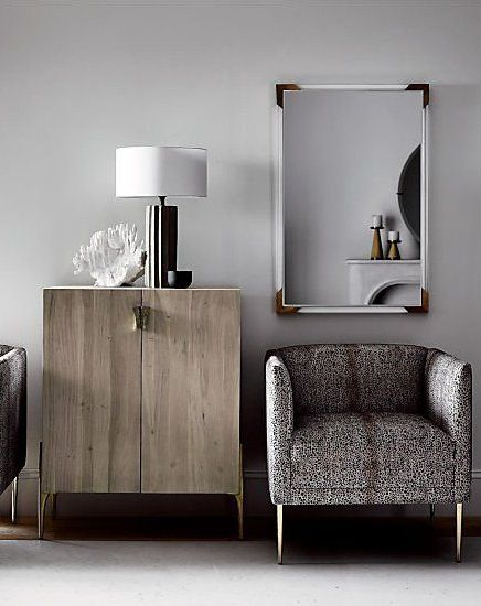 Washed Up Proof That Storage Can Look Light And Airy Solid Acacia Wood Cabinet In Rectangular Frame Concrete Table Lamp Furniture Minimalist Furniture Design