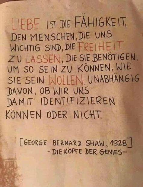 George Bernard Shaw ++ #Liebe #Zitat #Spruch #Lebensweisheit