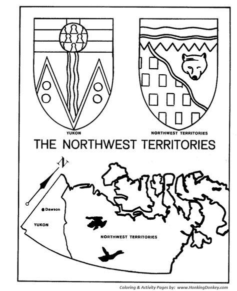 Manitoba Flag Coloring Page