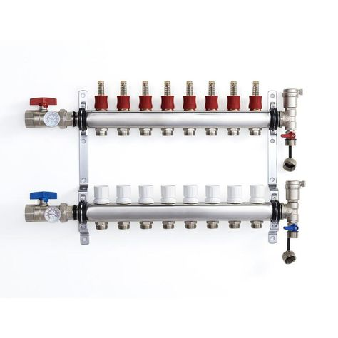Charman Manufacturing 8 Loop Radiant Heat Pex Manifold Stainless Steel Cm1634 8 In 2020 Radiant Heat Pex Tubing Pex Plumbing