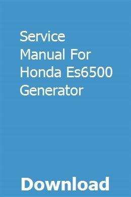 Honda el5000 es6500 ex5500 generator shop manual.