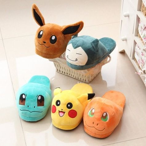 Pantofole Donna Pantuflas Anime Cartoon Pokemon balle Elf Pikachu ...