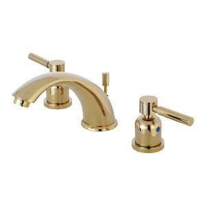 8 In Widespread 2 Handle Mid Arc Bathroom Faucet In Polished