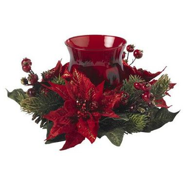 Image Result For Christmas Holly And Poinsettia Flower Arrangement Christmas Centerpieces Christmas Candle Holders Christmas Candle