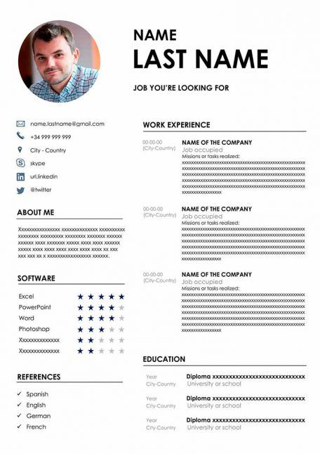 Resume Design Template Modern Resume Template