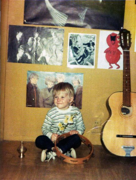 Pictures of Kurt Cobain Looking Happy: As a happy 2 year old.