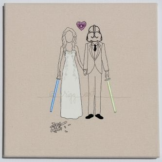 Star Wars Wedding Invitations Personalized Wedding Portraits by
