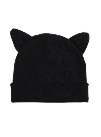 hat cute beanies cat ears hat with two cat ears cat ear hat black cat ears  beanie style accessories e07ccdc6e66