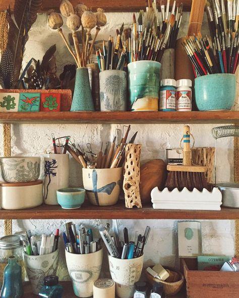 My art studio, painting studio, studio ideas, art studio storage, s Home Art Studios, Studios D'art, Art Studio At Home, Studio Studio, Studio Ideas, Art Studio Spaces, Garage Art Studio, Artist Studios, Rangement Art