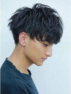 黒髪刈り上げパーママッシュ ツーブロック