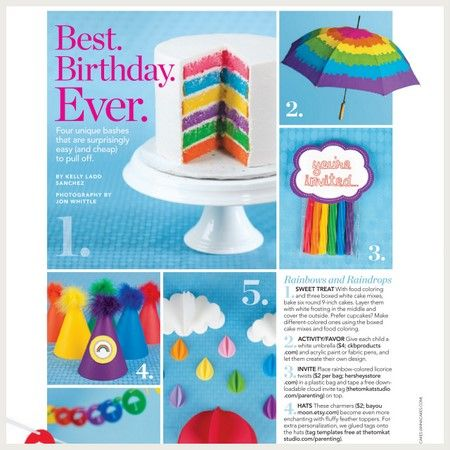 Free cloud invite and rainbow circle topper from @tomkatstudio
