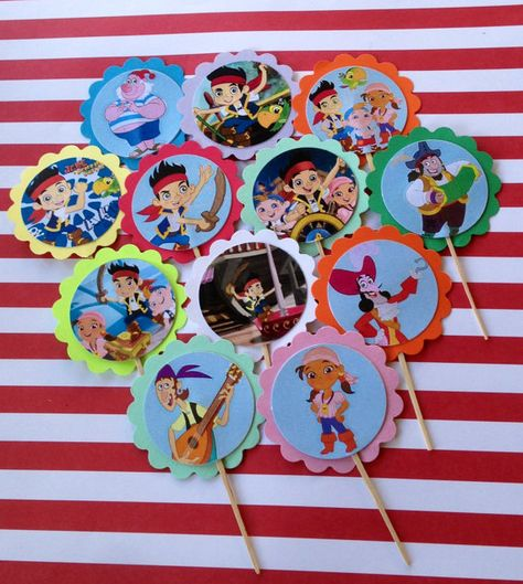 Jake and the Neverland Pirates Cupcake Toppers by PartyXtras, $4.00
