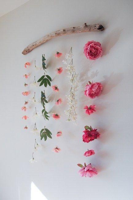 Diy Flower Wall Hanging The Learner Observer Diy Flower Wall Hanging Flower Wall Faux Flowers
