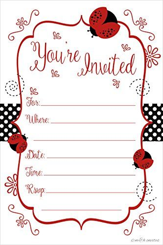 Ladybug Butterfly Picnic Birthday Invitations Birthday - birthday invitation template printable