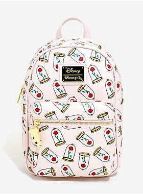 35bfcf254 She'll definitely love these roses | Loungefly Disney Beauty And The Beast  Enchanted Rose Mini Backpack