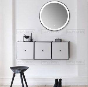 Miroir Salle D Eau Avec Eclairage Rond Touche Sensif Miroir Lumineux Miroir Miroir De Salle De Bain