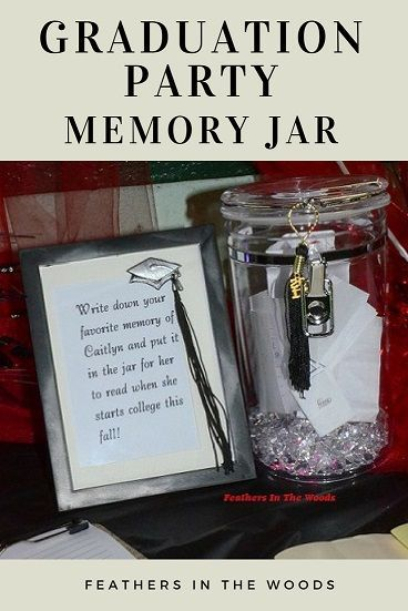 Graduation Party Memory Jar Graduation Party Memory Jar Graduation Party Memory Ideas Memory Jar