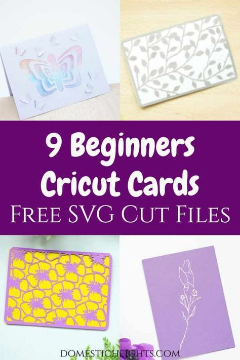19 Free Cricut Card Designs Domestic Heights Cricut Birthday Cards Card Making Ideas For Beginners Card Making Tutorials