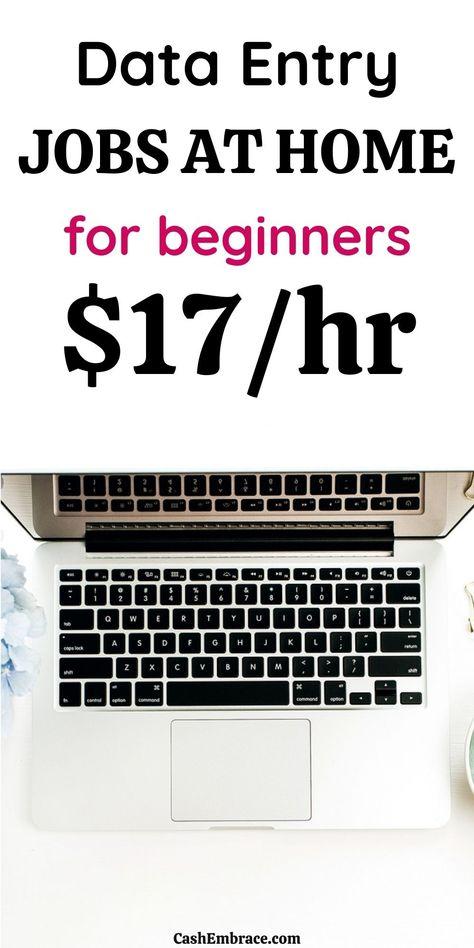 20 Data Entry Jobs For Beginners - Make $17/Hour
