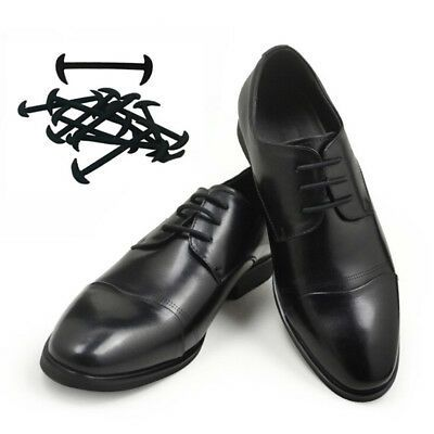 12Pcs Elastic Free Tying No Tie Lazy Silicone Shoelace Dress Shoe Laces  BHKH