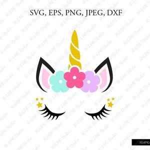 eps, svg, pdf, png, dxf, jpeg Unicorn . Cut files for Cricut Clip Art silhouettes