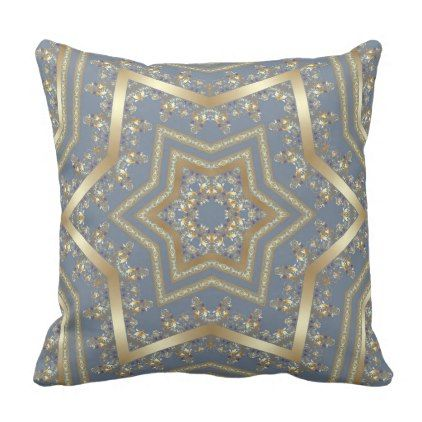 Arabic Antique Decorative East Ornamental Baroque Throw Pillow