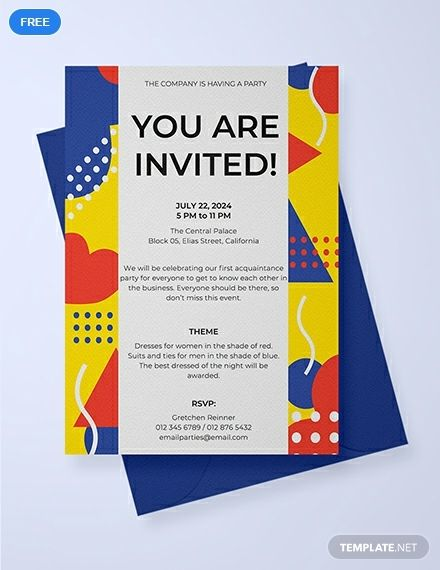 Email Party Invitation Template Free Jpg Illustrator Word Outlook Apple Pages Psd Publisher Template Net Email Invitations Templates Party Invite Template Email Party Invitations