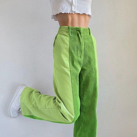High Waist Long Capris Straight Pant Bottom - Khaki L
