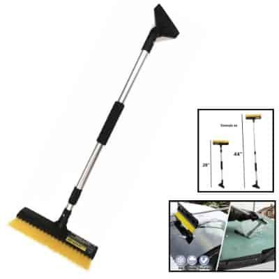Tsy Tool 44 Inch Extendable Snow Brush With Squeegee Ice Scraper Ice Scraper Simple Storage Brush