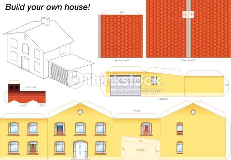 Pin By Emily Fluhr On Printable Houses Paper Houses